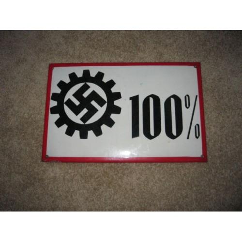 DAF Enamel Sign # 906