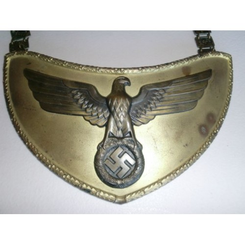 NSDAP Political Leader Flag Bearer's Gorget # 916